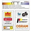 Visolight D280  LED Wand- Deckenleuchte TÜV GS geprüft 1900lm 3000K silber