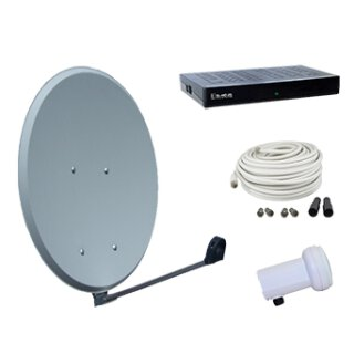 Vistron Digitale HDTV SAT-Anlage SES45-SL-HD25, HD Profi Single LNB, SL HD25