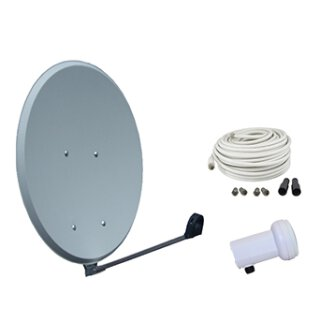 Vistron Digitale HDTV SAT-Anlage SES60, Profi HD Single LNB, Koaxkabel 20m