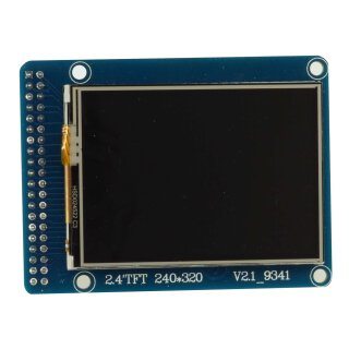 """TFT LCD Display mit Touchscreen 2,4"""" parallel Interface ILI9341"""